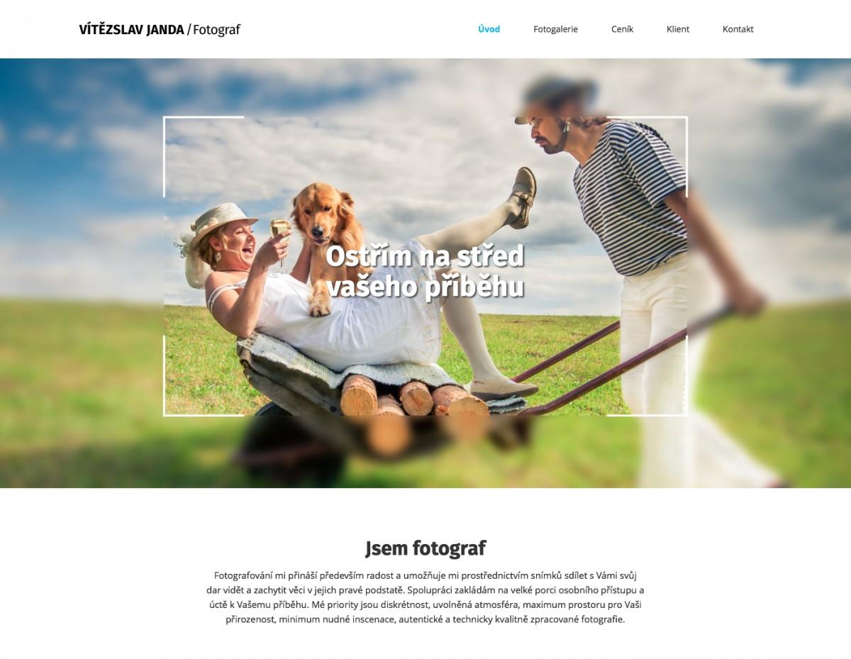 Náhled projektu Fotograf Vítězslav Janda  - Úvodní stránka