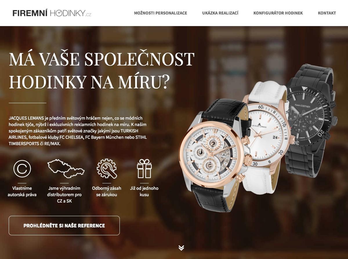 Náhled projektu Firemní hodinky
