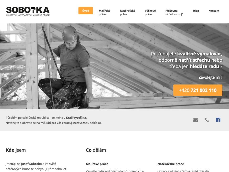 Náhled projektu Josef Sobotka  - Úvodní strana