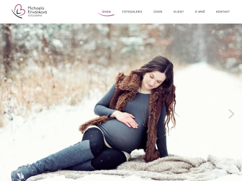 Náhled projektu Fotografka Michaela Křivánková  - Úvodní stránka