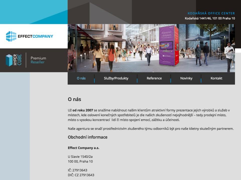 Náhled projektu Effect Company  - Úvodní stránka