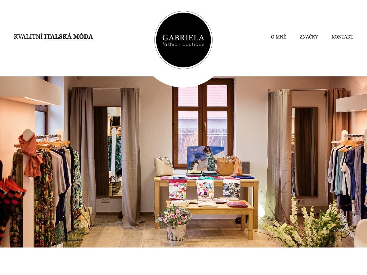 Náhled projektu Gabriela Fashion