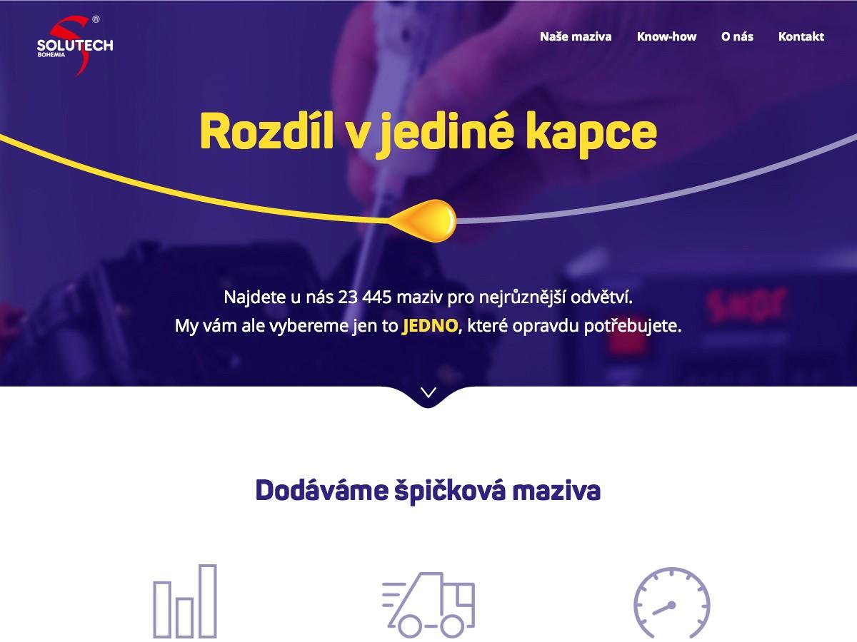 Náhled projektu Solutech Bohemia  - Úvodní stránka