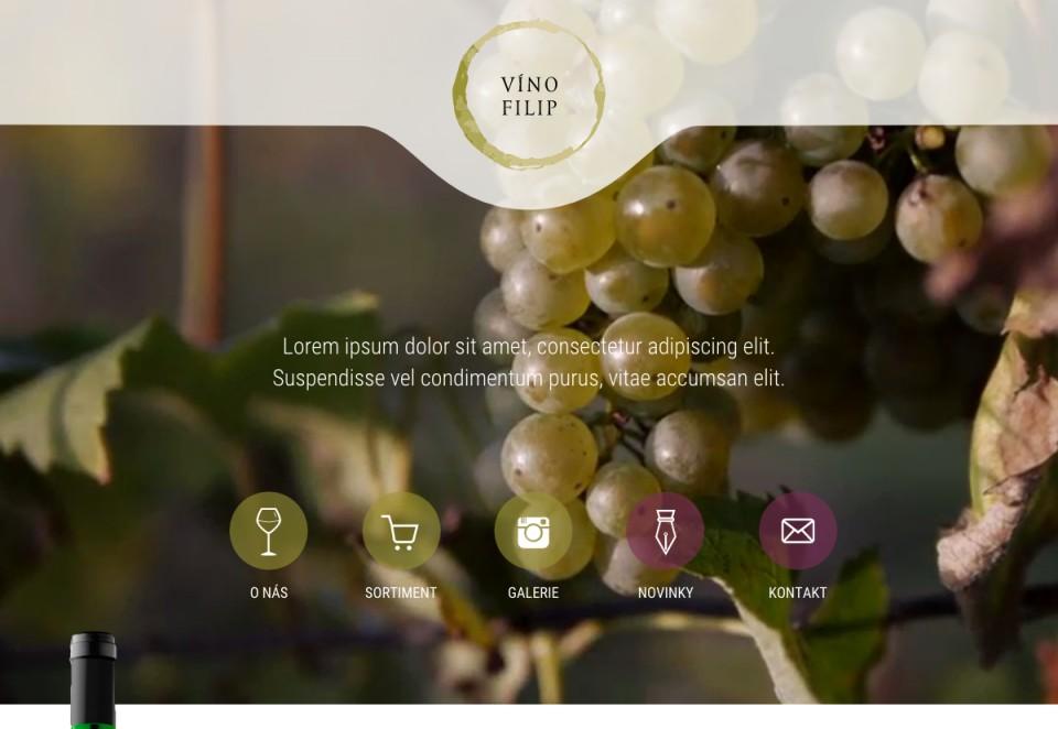 Náhled projektu Víno Filip