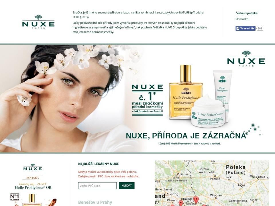 Náhled projektu NUXE lékárny
