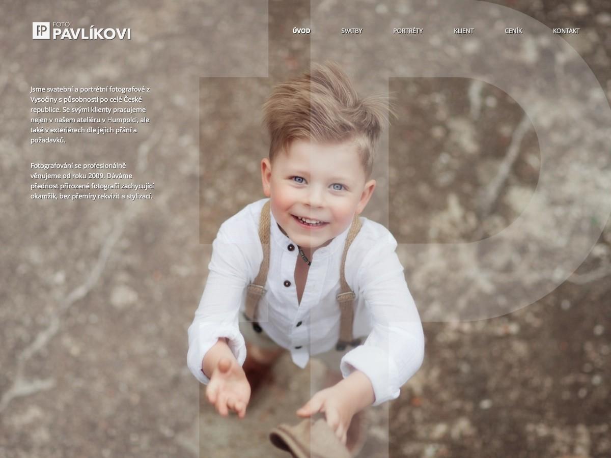 Náhled projektu FOTO Pavlíkovi  - Úvodní stránka