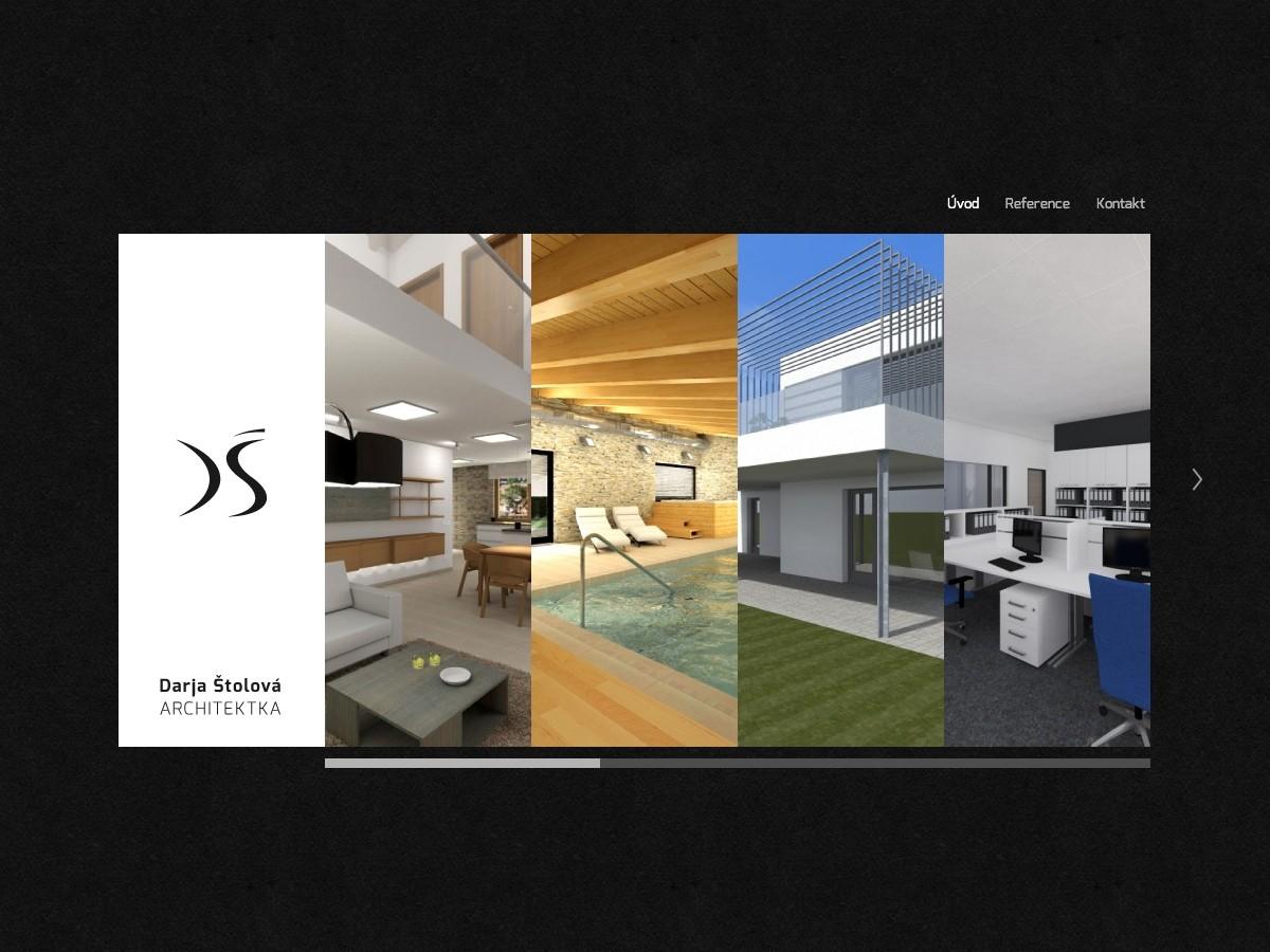 Náhled projektu Architektka Darja Štolová  - Úvodní stránka