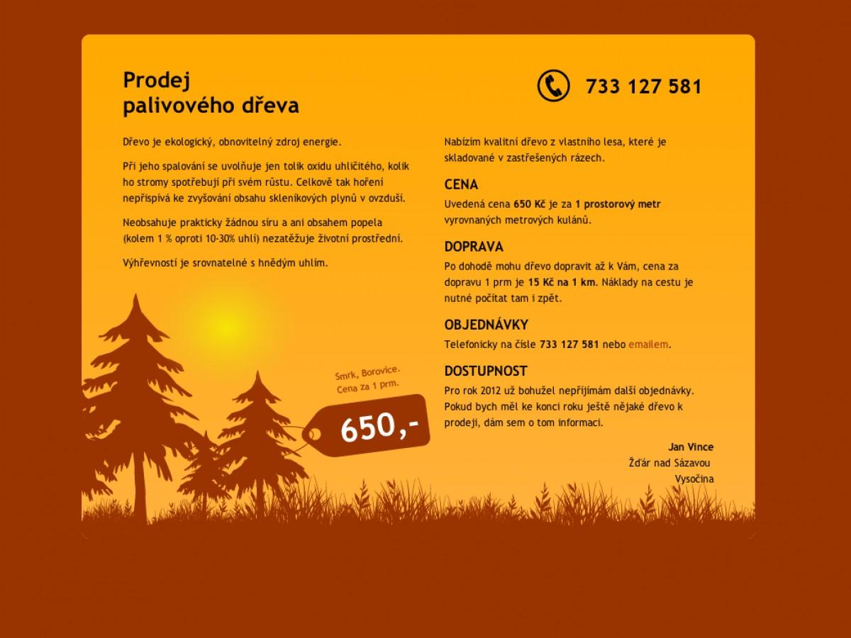 Náhled projektu Prodej palivového dřeva