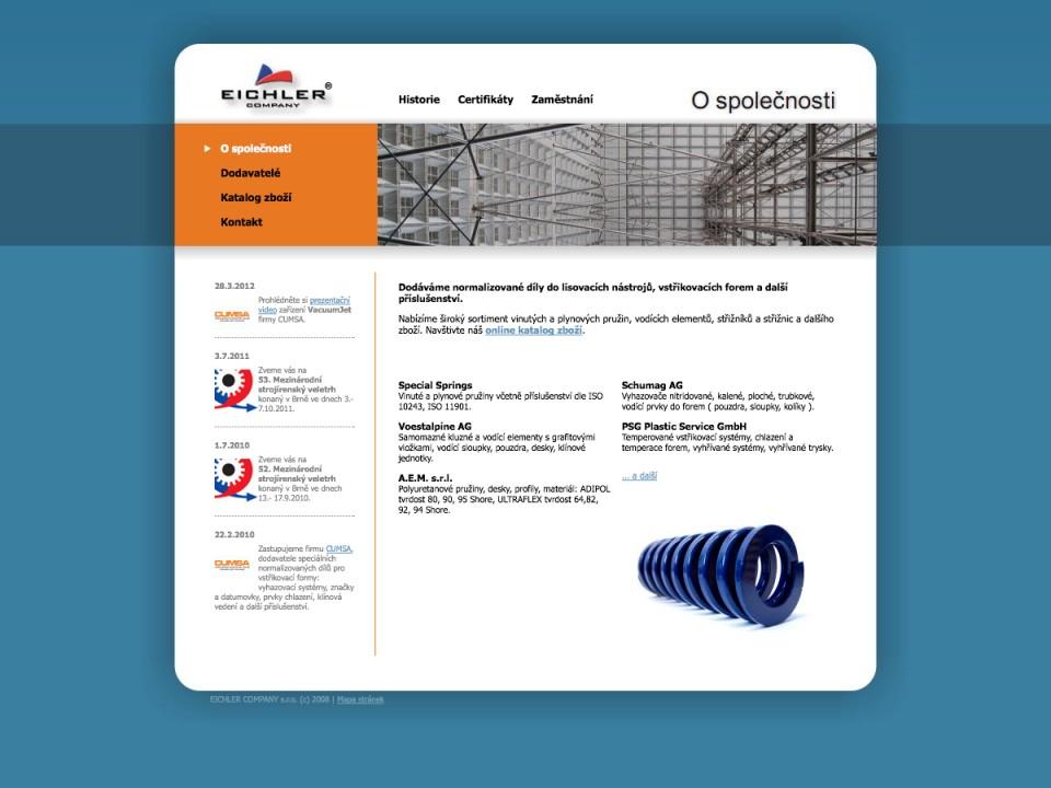 Náhled projektu Eichler Company  - Úvodní stránka