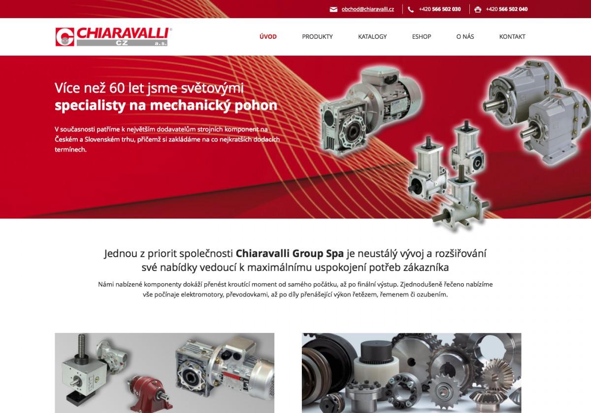 Náhled projektu Chiaravalli CZ  - Úvodní stránka