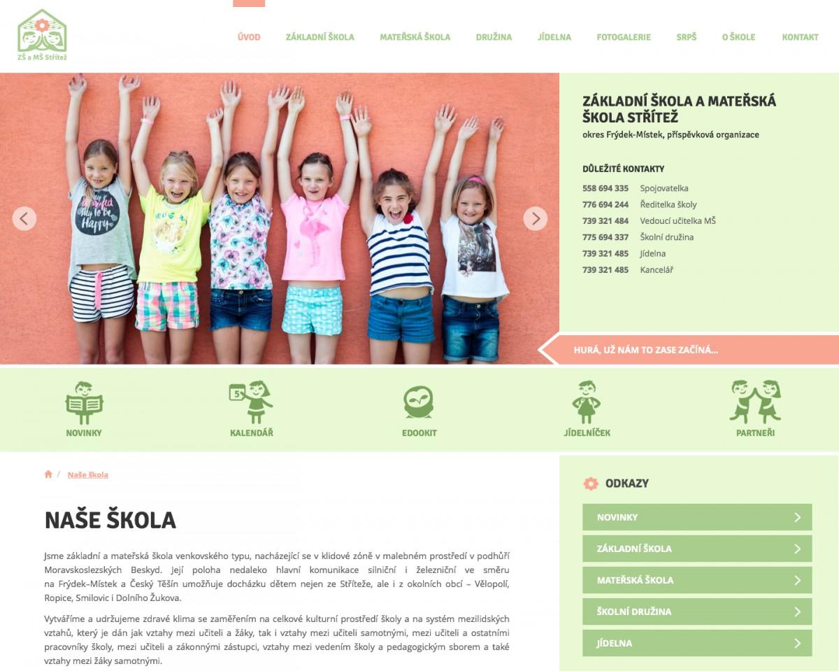 Náhled projektu Základní škola a Mateřská škola Střítež
