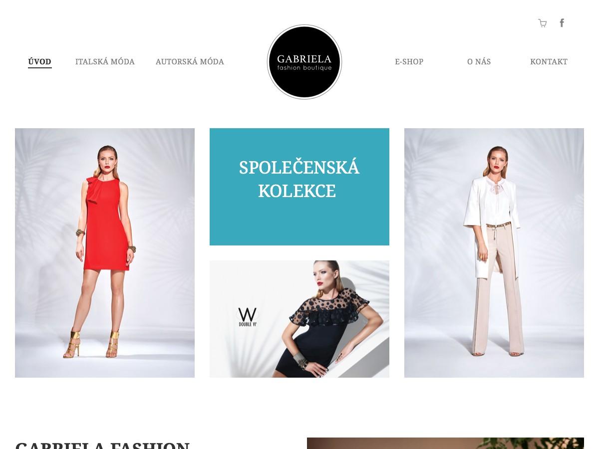 Náhled projektu Gabriela Fashion eShop