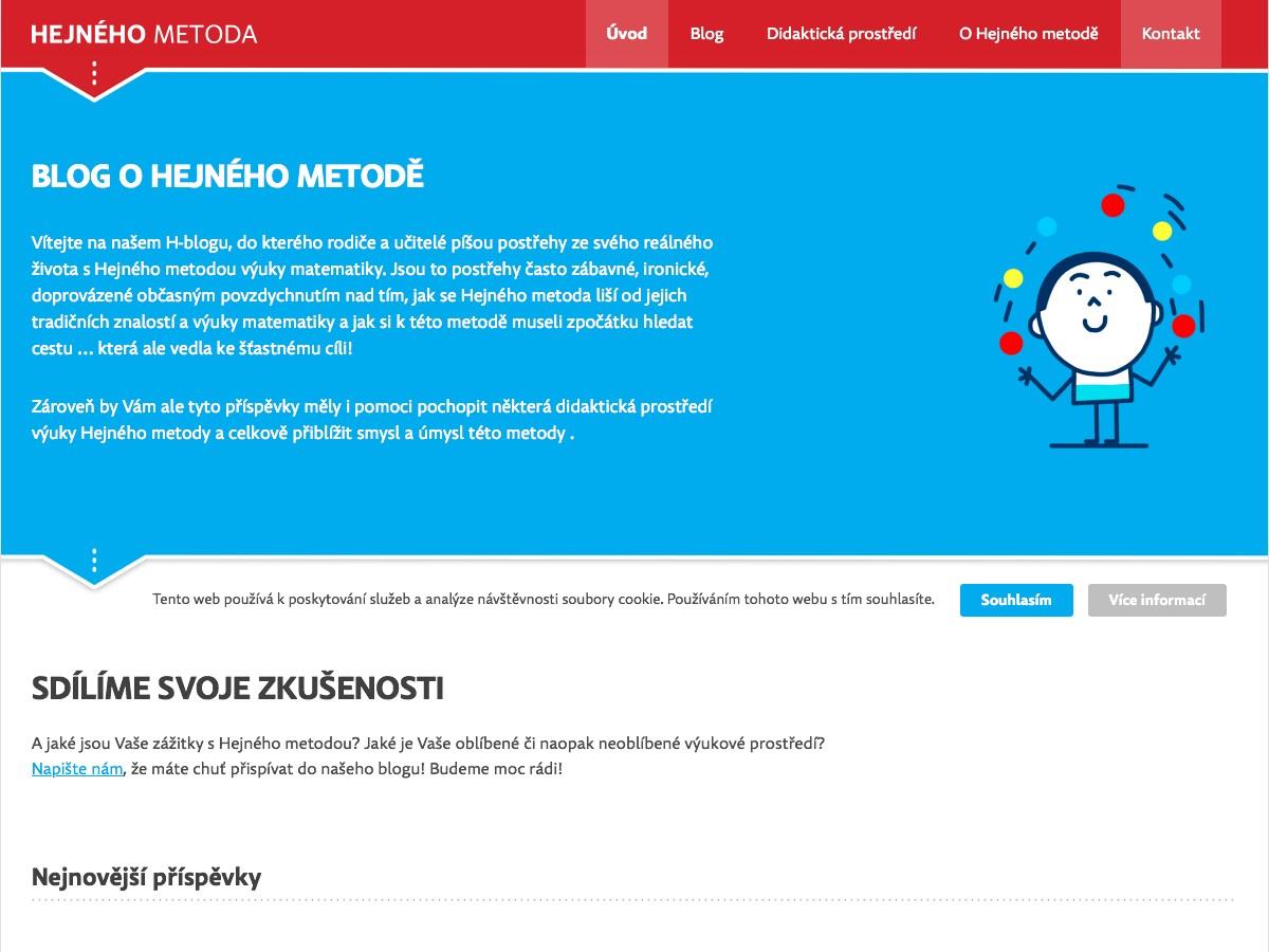 Náhled projektu Blog o Hejného metodě