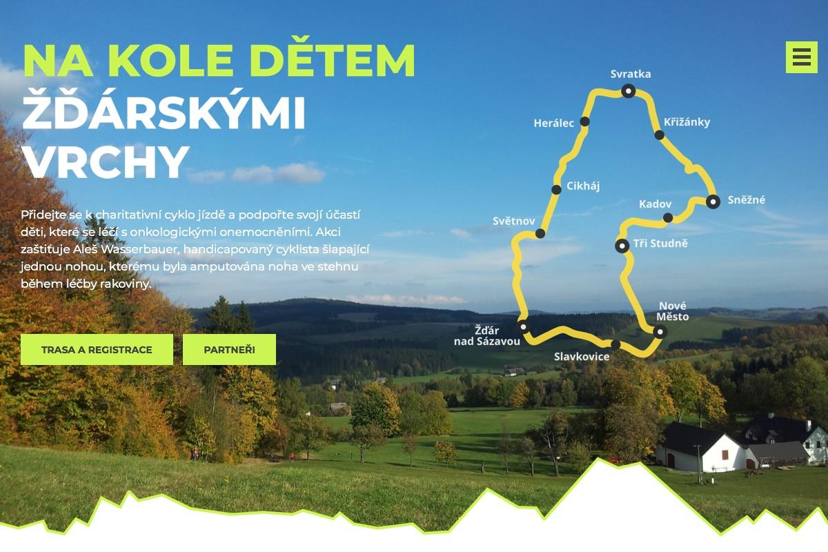 Náhled projektu Na kole dětem Žďárskými vrchy