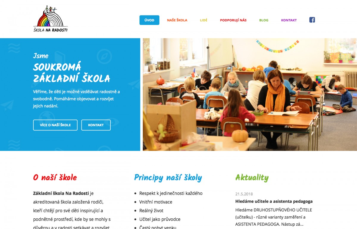Náhled projektu Škola Na Radosti