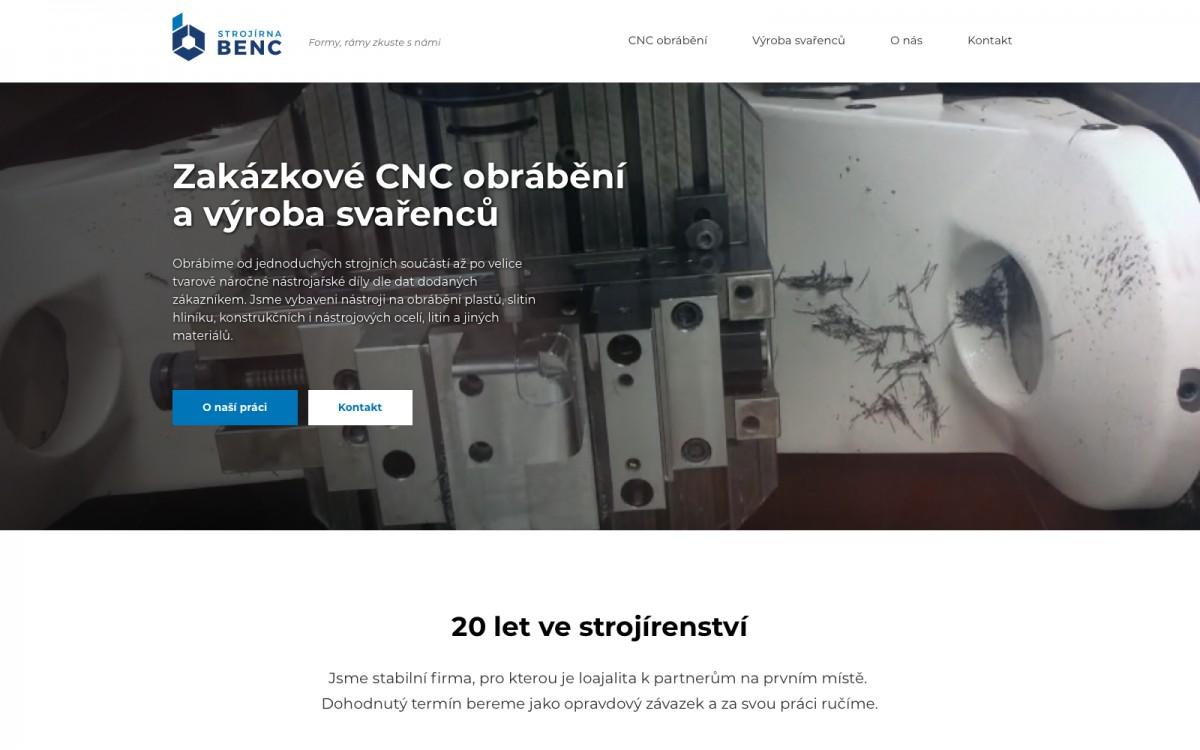 Náhled projektu Strojírna Benc