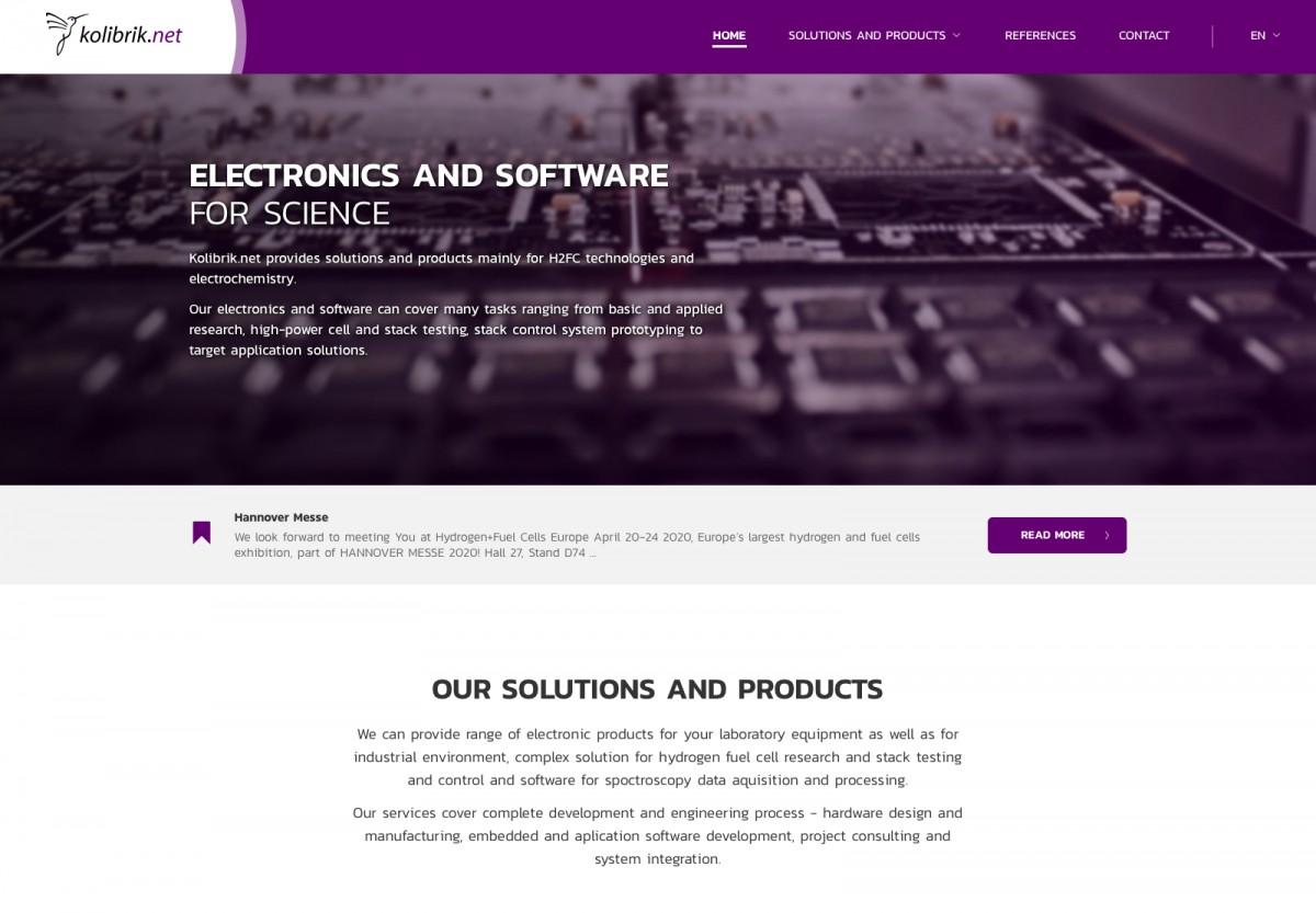 Náhled projektu kolibrik.net